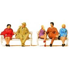 Preiser 14101 Sitzende Personen auf Bänken