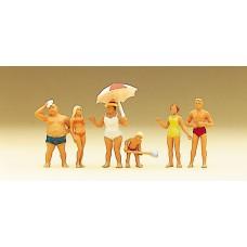 Preiser 10283 Familie Krause am Strand in Badekleidung