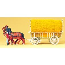 Preiser 30477  2-spänniger Getreidewagen