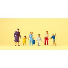 Preiser 14041 Gehende Frau, Kinder