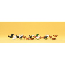 Preiser 14168 Hühner und Hähne
