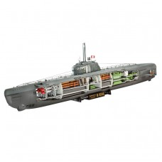 Revell 05078 Deutsches U-Boot Typ XXI mit Interieur 1:144