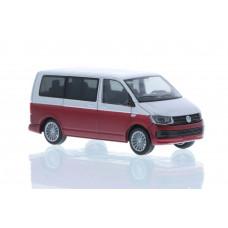 Rietze 11662 Volkswagen T6 Bus KR reflexsilber/fortanorot