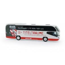 Rietze 67138 Neoplan Cityliner 07 Schilling Reisen - Fanbus 1. FC Köln