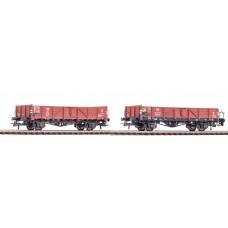 Roco 76109 et: 2-tlg. Offene Güterwagen, DB