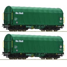 Roco 76049 - 2-tlg. Set: Schiebeplanenwagen, On Rail