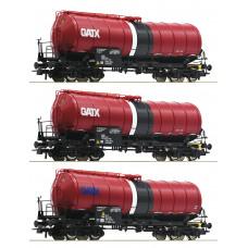 Roco 76088 3-tlg. Set: Knickkesselwagen, GATX  Epoche: VI