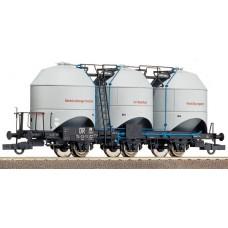 ROCO 47320 Dreiachsige Staubgutwagen DR 54-03-10 grau