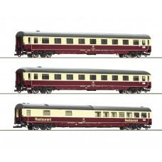 """Roco 74096 - 3-tlg. Set 2: Autoreisezug """"Christoforus-Express"""", DB"""