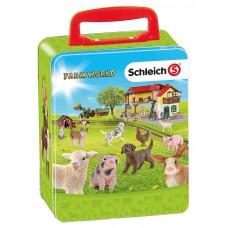 Schleich 3113 Farm World Sammelkoffer aus Metall