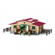 Schleich 42195 Pferdestall mit Pferden