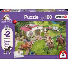 Schleich 56190 Puzzle Ausritt ins Grüne, Schmidt Spiele