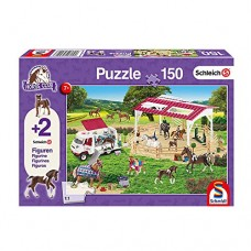 Schleich 56240 Puzzle Reitschule und Tierärztin, Schmidt Spiele