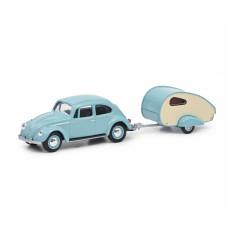 Schuco 452022500 VW Käfer mit Wohnanh.1:64