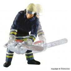 Viessmann 1541 H0 Feuerwehrmann mit Kettensäge, bewegt