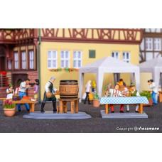 Viessmann 1546 H0 Braumeister beim Fassanstich, bewegt