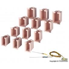 Viessmann 6005 Hausbeleuchtungs-Startset, 12 Boxen