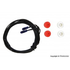 Viessmann 3506 Glühlampen blau T1/2, Ø 1,8 mm, 16 V, 30 mA, 2 Kabel, 2 Stück
