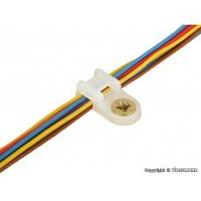 Viessmann 6846 Kabelbinder-Halter, mit Schrauben, 100 Stück