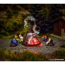 Vollmer 43667 H0 Lagerfeuer mit Flackerlicht, Funktionsbausatz