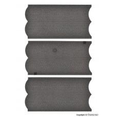 Vollmer 48240 H0 Straßenplatte Kopfsteinpflaster, 3 Stück, L 15 x B 8 cm