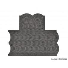 Vollmer 48243 H0 Straßenplatte Kopfsteinpflaster aus Steinkunst, 90°-Einmündung, L 15,5 x B 13 cm