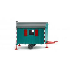 Wiking 065607 Bauwagen - wasserblau