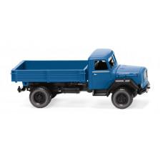 Wiking 042499 Pritschenkipper (Magirus) - brillantblau