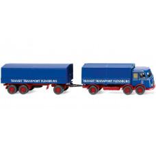 "Wiking 042902 Pritschenhängerzug (MB LP 333) ""Transit Transport"""