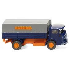 Wiking 047601 Pritschen-Lkw (Büssing 4500) - blau/orange