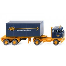 """Wiking 052602 Containersattelzug 20' (Volvo F89) """"ASG"""""""