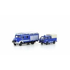 Lemke 4205  2tlg. Set LF 16 Feuerwehr + VW T3 THW