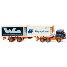 "Wiking 052201 Kühlcontainersattelzug (Krupp) ""Hapag Lloyd / WL"""