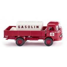 """Wiking 043804 Pritschen-Lkw mit Aufsatztank (MB LP 321) """"Gasolin"""""""